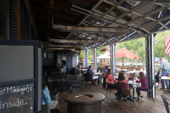 Weather Protected Outdoor Dining on Deck