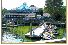 Kayaks at Madigan's enjoying lunch,